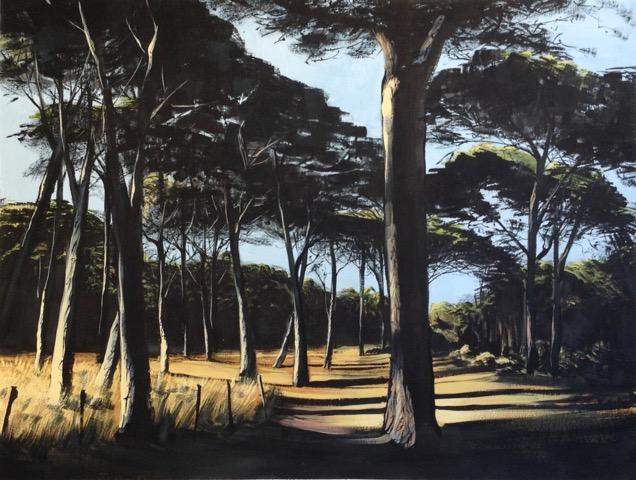 « Pinède Porquerolles », gouache:papier, 50-65 cm